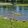 Stock Photo: Perigord, canoeing on Dordogne river in Castelnaud lChapelle