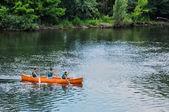 France, canoeing on Dordogne river in Perigord — Stock Photo
