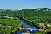 Perigord, Dordogne valley in Castelnaud la Chapelle — Stock Photo