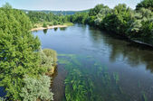 France, Dordogne river in Cluges — Stock Photo
