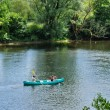 Stock Photo: France, canoeing on Dordogne river in Perigord