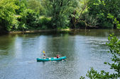 France, canoeing on Dordogne river in Perigord — Stock Photo