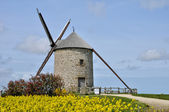 France, the Moidrey windmill in Pontorson — Stock Photo