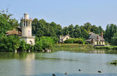 France, Marie Antoinette estate in the parc of Versailles Palace — Stock Photo