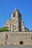 Francie, malebné kostel lainville en vexin — Stock fotografie