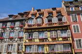Alsace, gamla och historiska distriktet i strasbourg — Stockfoto