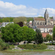 Stock Photo: France, picturesque village of Triel sur Seine