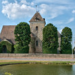 Stock Photo: Thoiry, picturesque church of Les Vignettes