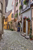 France, small village of Riquewihr in Alsace — Stock Photo