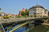 Alsace, old and historical district in Strasbourg — Stock Photo
