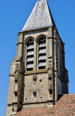France, the picturesque church of Mery sur Oise   — Foto Stock