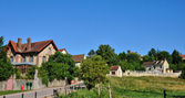 France, the picturesque village of Montgeroutl — Stock Photo