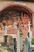 Francia, pintoresca ciudad antigua de obernai — Fotografia Stock