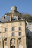 France, castle of La Roche Guyon — Stock Photo