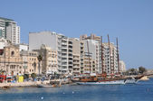 Malta, the picturesque city of Sliema — Stock Photo