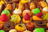Ile de France, close up of cakes assortment — Stock Photo