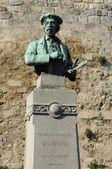 France, a statue of Daubigny in Auvers sur Oise — Stok fotoğraf