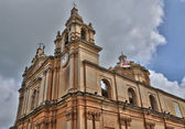 Malta, the picturesque cathedral of mdina — Zdjęcie stockowe