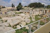 Malta, tarxien megalitik tapınak — Stok fotoğraf