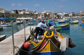 Malta, the picturesque city of Marsaxlokk — Stock Photo