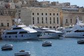 Malta, de pittoreske baai van valetta — Stockfoto