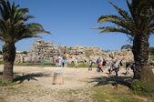 Malta, el templo de ggantija pintoresco en gozo — Foto de Stock