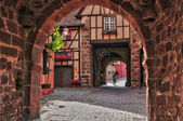 France, picturesque village of Riquewihr in Alsace  — Stock Photo