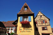 Haut Rhin, the picturesque village of Eguisheim — Stock Photo