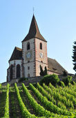 Haut Rhin, the picturesque village of Hunawihr in Alsace  — Stock Photo
