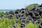 France, pile of waste tires in Arthies — Stock Photo