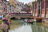 Haut Rhin, the picturesque city of Colmar in Alsace — Stock Photo