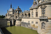 Picardie, the picturesque castle of Chantilly in Oise — Stock Photo