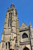 Picardie, the picturesque church of  Compiegne in Oise — Stock Photo