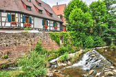 Haut Rhin, the picturesque city of Kaysersberg in Alsace — Stockfoto