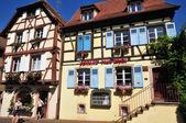 Haut Rhin, the picturesque village of Eguisheim — Stock Photo