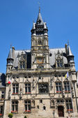 Picardie, the picturesque city hall of  Compiegne in Oise — Stock Photo