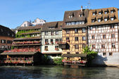 Bas Rhin, the picturesque city of Strasbourg in Alsace — Stock Photo