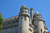 Picardie, the picturesque castle of Pierrefonds in Oise — Zdjęcie stockowe