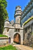 Picardie, the picturesque castle of Pierrefonds in Oise — Foto Stock