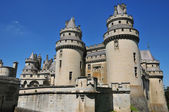 Picardie, the picturesque castle of Pierrefonds in Oise — Stock Photo