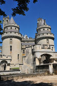 Picardie, the picturesque castle of Pierrefonds in Oise — Stok fotoğraf