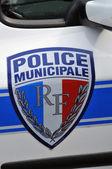 França, a polícia comunitária em les mureaux — Foto Stock