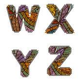 Vintage letras — Vetorial Stock