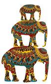Indian elephants — Stock Vector