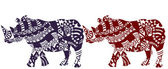 African rhinos — Stock Vector