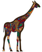Ethnic giraffe — Stock Vector