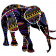 Ethnic elephant - Stock Vector