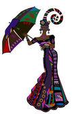 Etnische mode — Stockvector