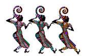 Ethnic dances — Stock Vector