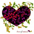 Stock Vector: Love of nature